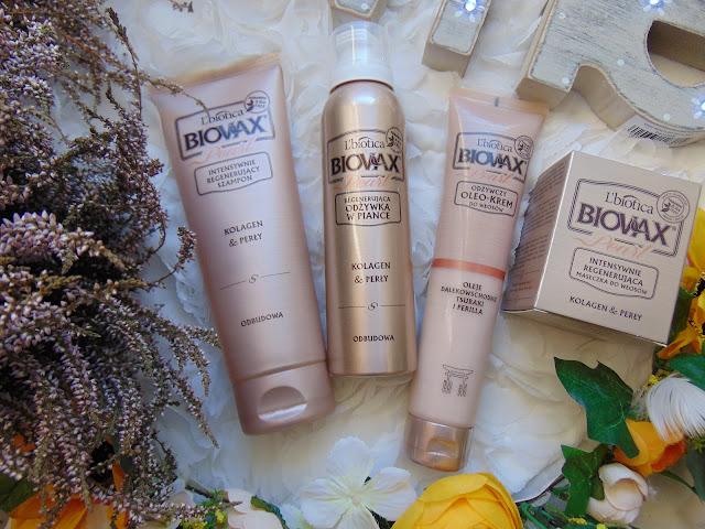 L'Biotica Biovax - Kolagen & Perły - Intensywnie regenerująca seria do włosów