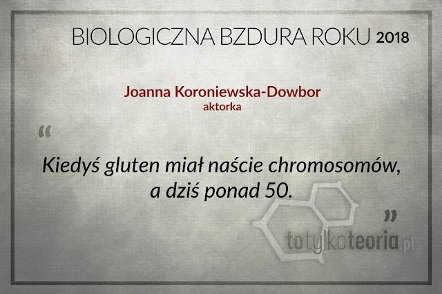 Joanna Koroniewska Dowbor Biologiczna Bzdura Roku 2018