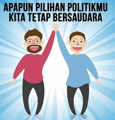 Apapun pilihan politik kita tetap bersaudara