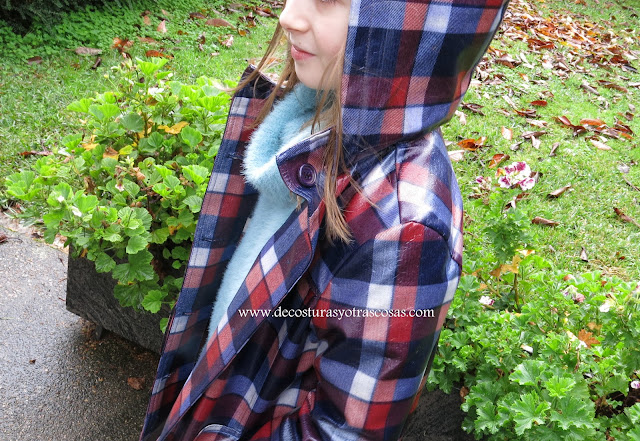tutorial chubasquero con capucha para niños