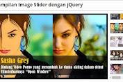 Memasang Image slider dengan Jquery tanpa edit HTML