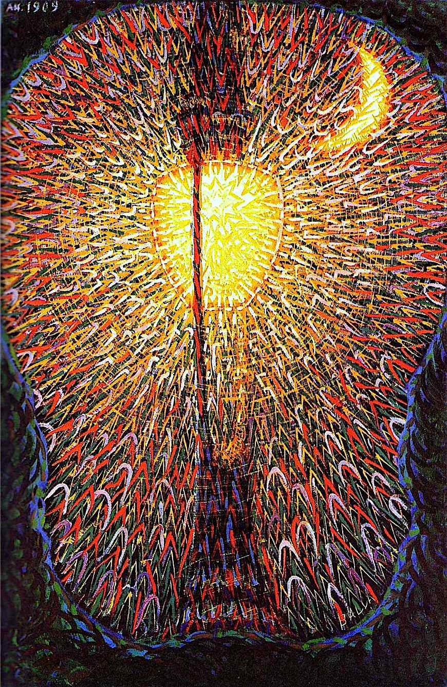 a Giacomo Balla painting of a street light