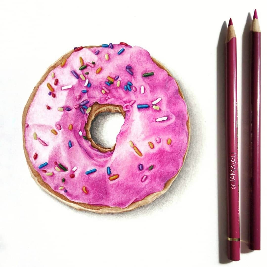 07-Donut-Doughnut-J-Wuiz-Animals-and-Food-Art-Pencil-Drawings-www-designstack-co