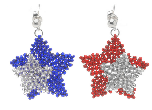 How to make patriotic jewelry tutorials ii the beading for Patriotic beaded jewelry patterns