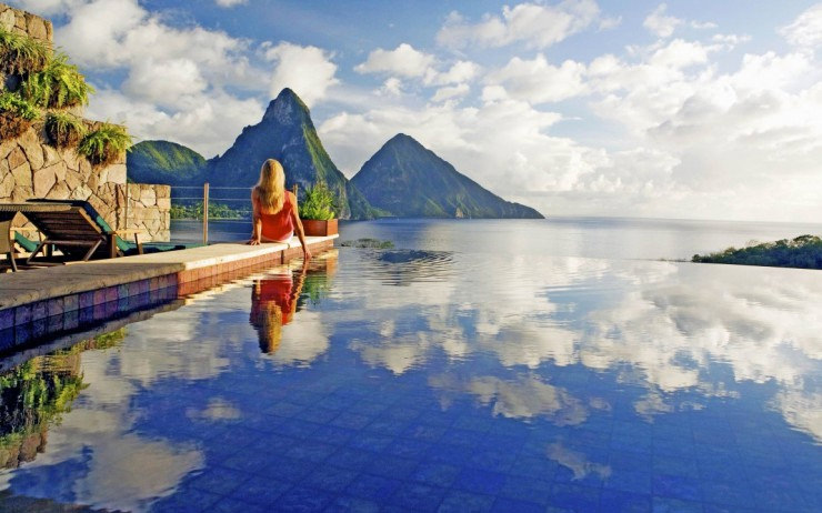 29 Most Amazing Infinity Pools in Pictures - Jade Mountain, St. Lucia