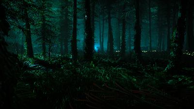 Relato de misterio sobre cuatro amigos en el bosque