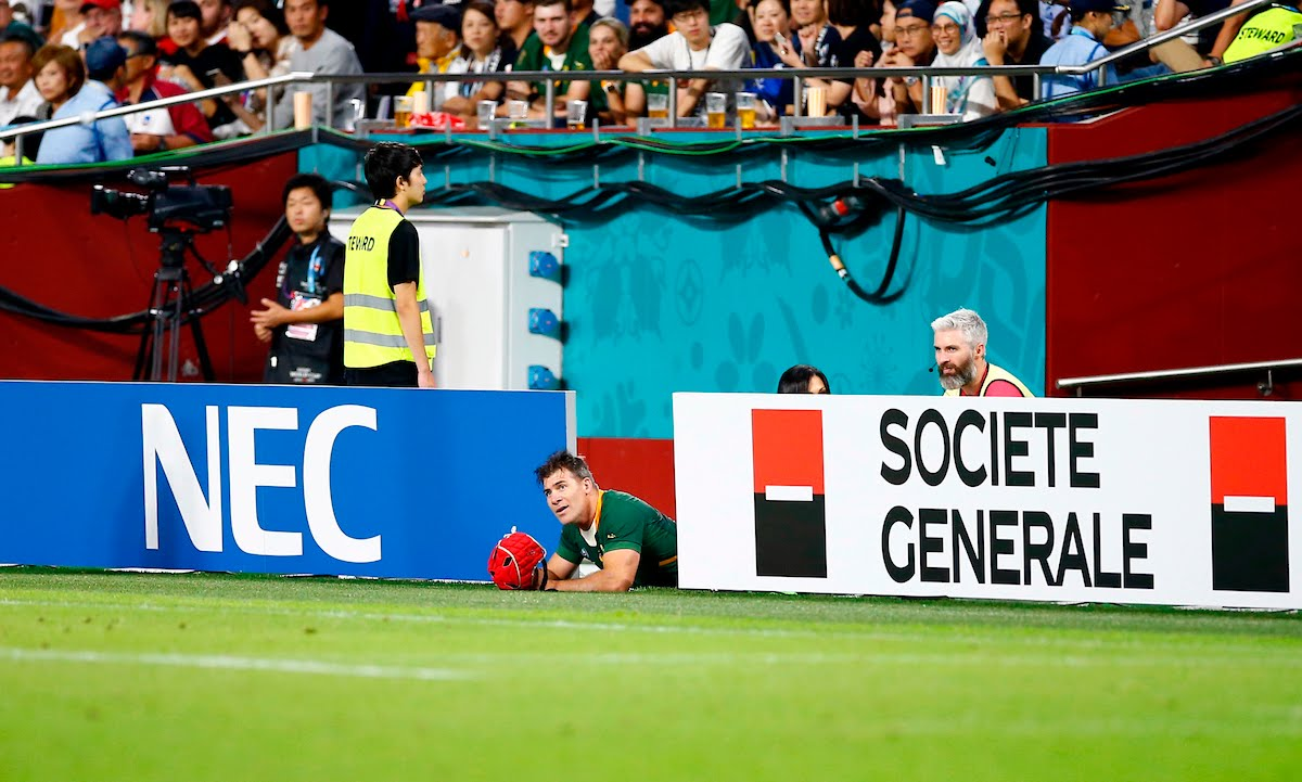 Schalk Brits of South Africa during the Rugby World Cup Pool B match between South Africa and Canada at the Kobe Misaki Stadium, Kobe City 8th October 2019