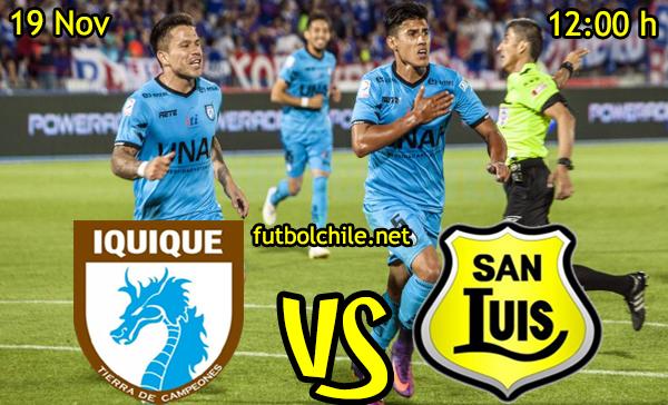 Ver stream hd youtube facebook movil android ios iphone table ipad windows mac linux resultado en vivo, online:  Deportes Iquique vs San Luis