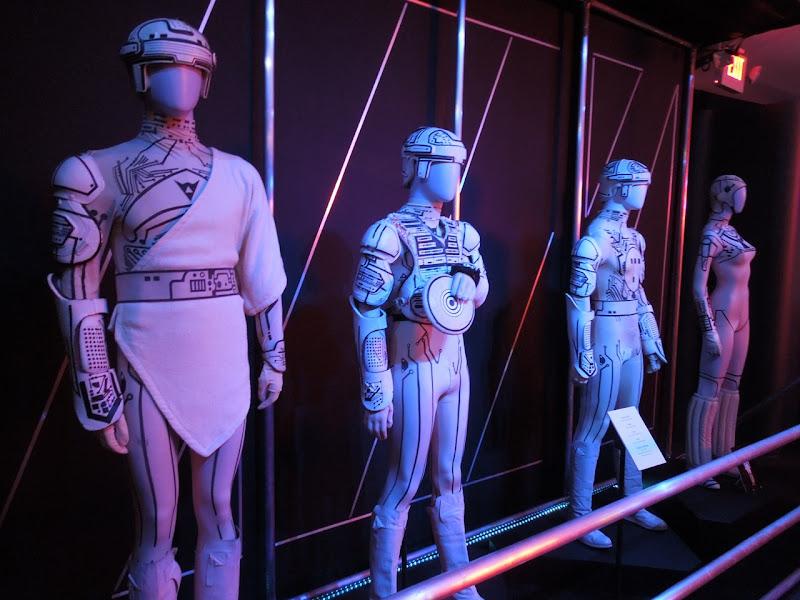 1982 Tron movie costume exhibit