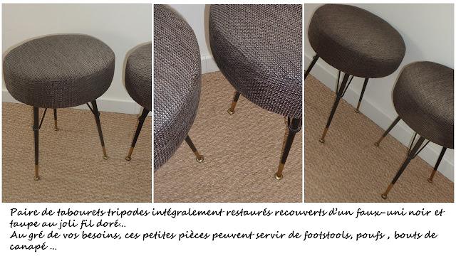 tabourets footstool poufs vintage