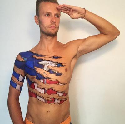 Bodypaint del capitán america