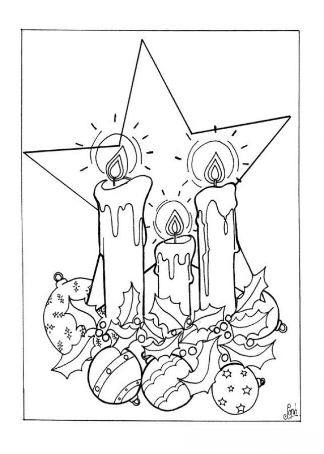 Candle coloring pages printable ~ Candles Christmas Coloring Pages For Girls