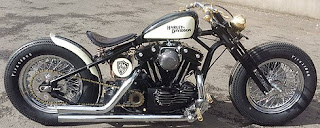 sportster bobber by sledhead custom cycles black and white