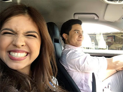 Alden and Maine during their Valentine's Day date