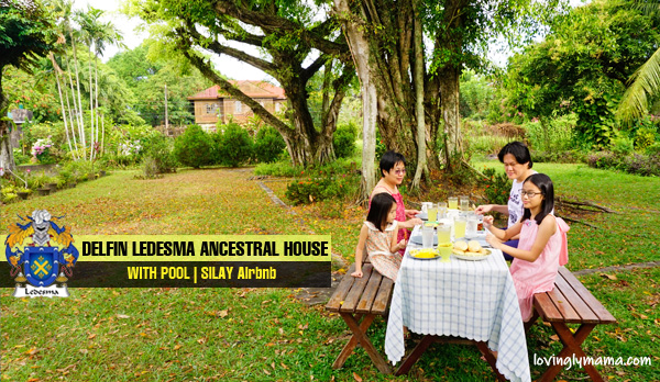 Delfin Ledesma Ancestral House with pool - Silay Airbnb - Bacolod blogger - Bacolod mommy blogger - family travel - breakfast in the garden - Filipino breakfast - landscaping - yard - Silay City hotel