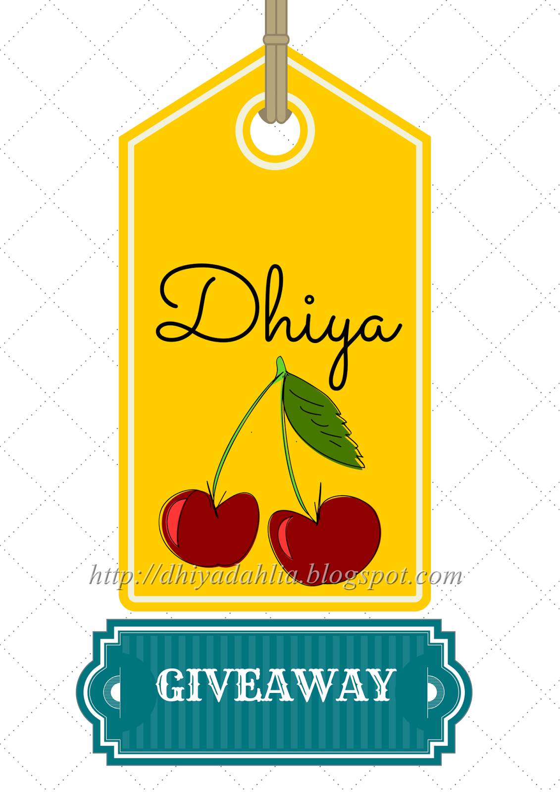 http://dhiyadahlia.blogspot.com/2014/08/dhiyas-first-giveaway.html