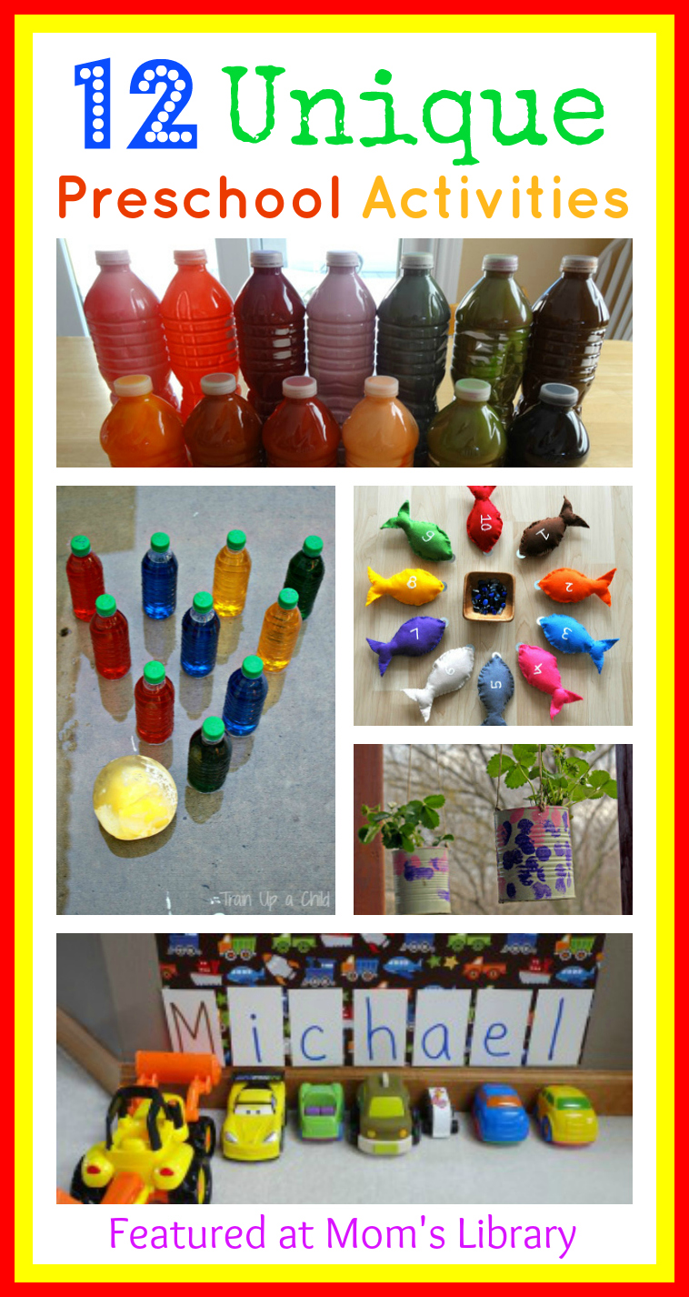 12 Preschool Activity Ideas and Mom's Library #40 | True Aim