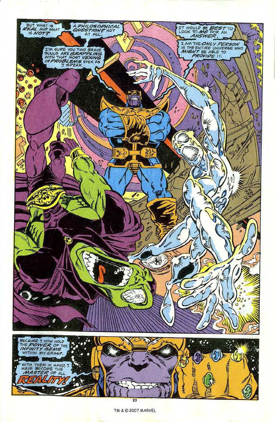 Read online Silver Surfer (1987) comic -  Issue #44 - 25