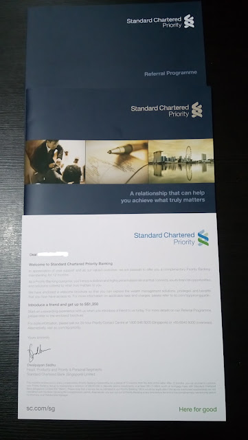 Hoorray!!! I was invited to join Standard Chartered Priority Banking
