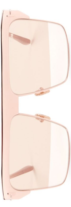 Tom Ford West 59MM Square Rose Goldplated Sunglasses