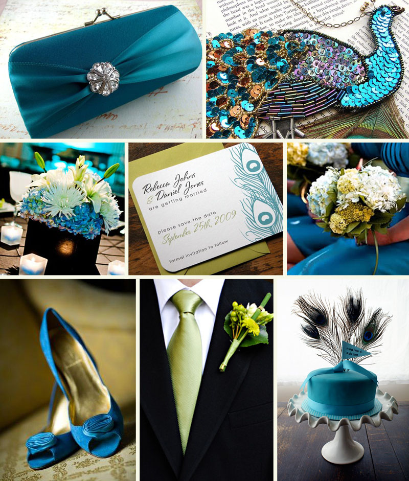 Wedding Style: A Peacock Blue Wedding