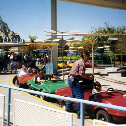 Autopia ride at Disneyland