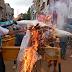शिवपुरी में पहली बार माधव चौक पर फूंका गया सिंधिया का पुलता