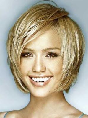 potongan rambut pendek bagi wajah wanita bentuk hati_98225478