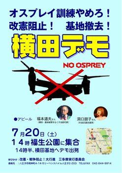 改憲阻止! 基地撤去! 横田デモ