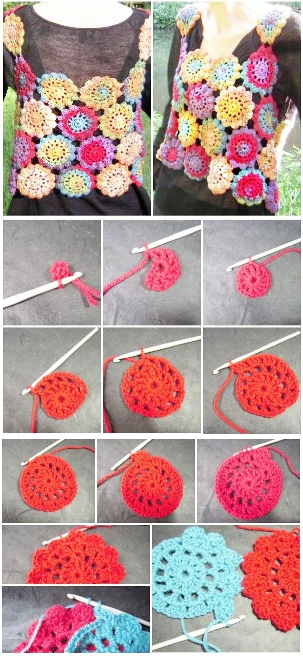 crochet top, tutoriales de crochet, patrones para crochet