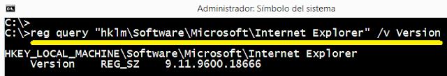 Windows: Buscar versión de Internet explorer en equipo remoto