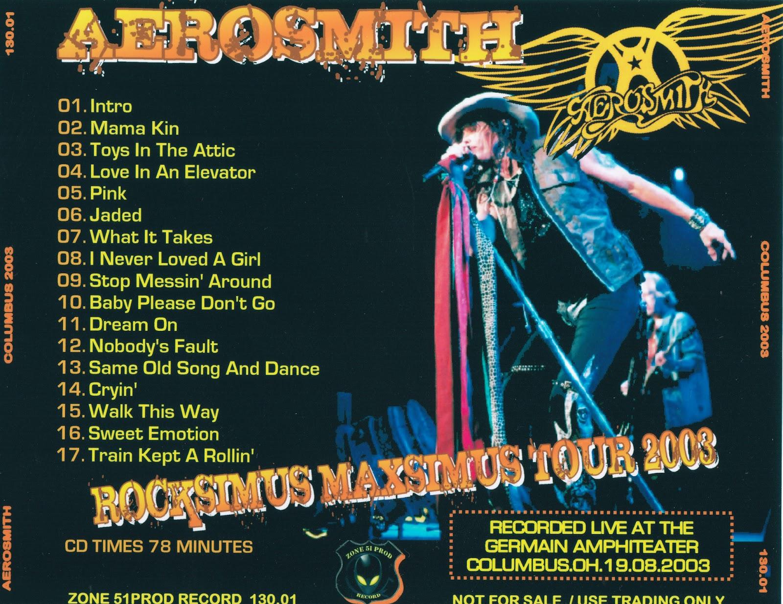 Aerosmith Bootlegs Cover Arts Columbus 2003