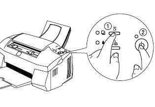 Cara test printer manual tanpa komputer untuk canon, Hp