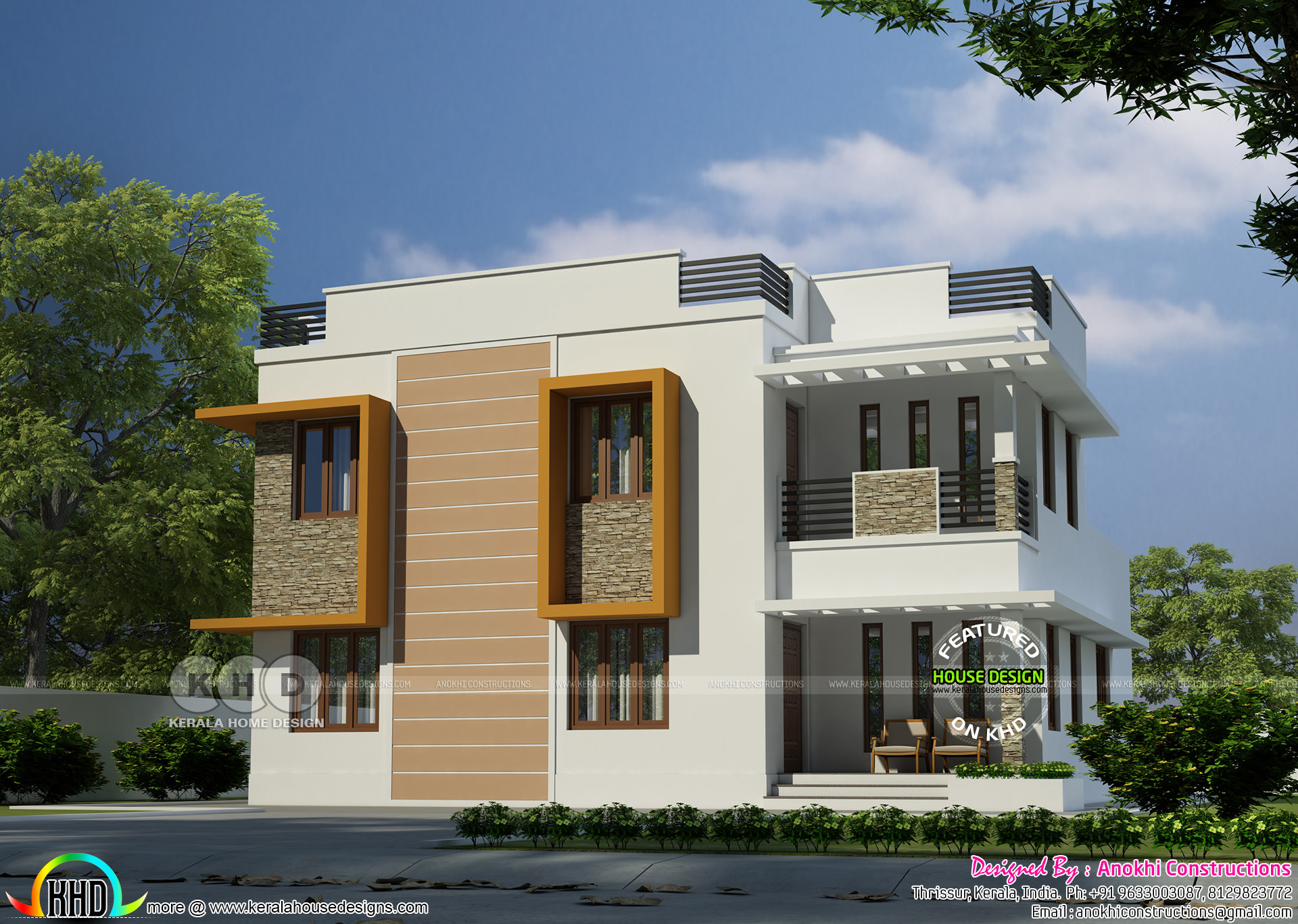 32 5 lakhs cost estimated modern home kerala home for House plans with estimated cost to build in kerala
