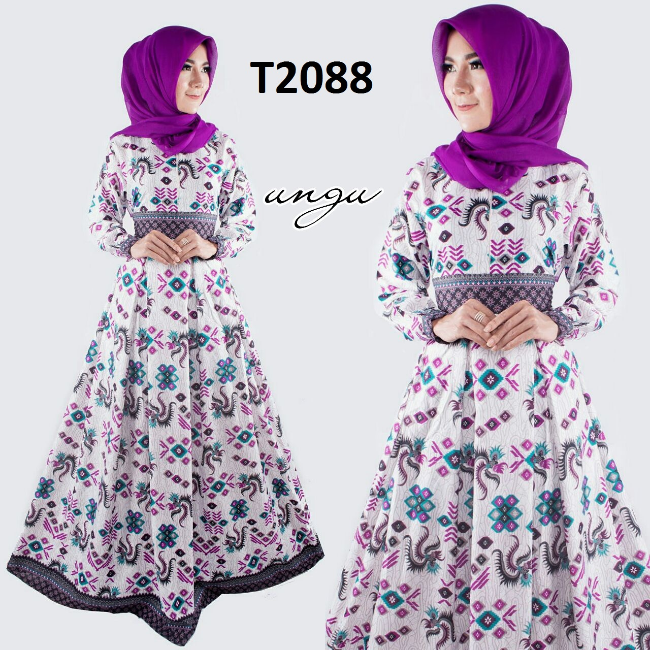 Baju Gamis Batik Terbaru 2017