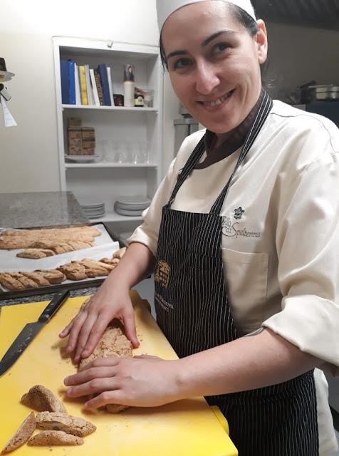 a chef de pastelaria, Florencia Breda, do Castello di Spaltenna