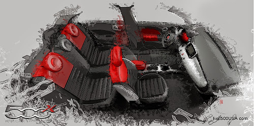 Fiat 500X Interior Design Sketch
