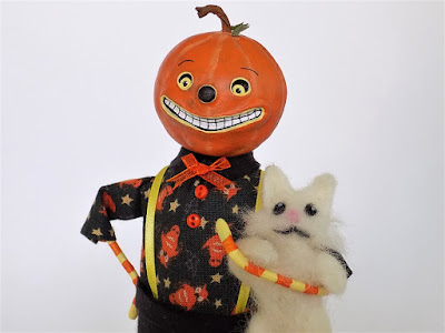 Pumpkin Guy and Kitty