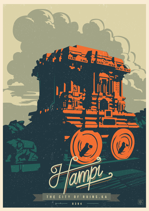 Hampi - City of Ruins Travel Poster
