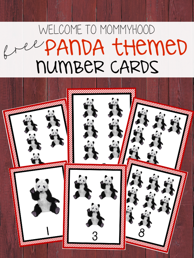 Free panda number counting cards by Welcome to Mommyhood #preschoolactivities, #chinesenewyear, #toddleractivities, #countingactivities