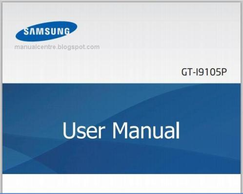 Samsung I9105 Galaxy S II Plus Manual Cover