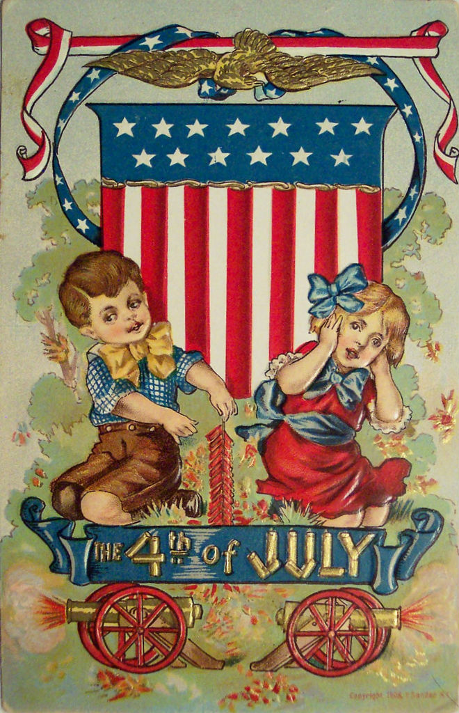 30 funny vintage postcards of the fourth of july from the. Black Bedroom Furniture Sets. Home Design Ideas