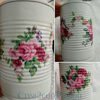 Reciclaje-latas-decopage-shabby-chic-vintage-Crea2-con-pasión-flores-pasos-iniciales