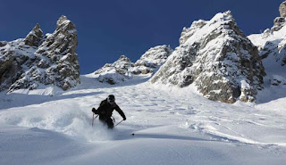 grand couloir courchevel piste famose