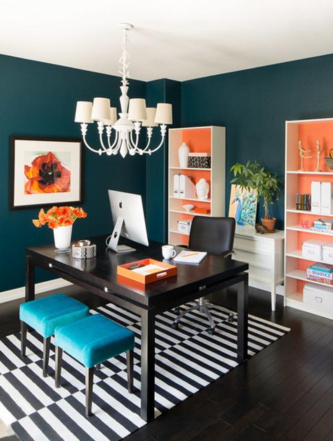 escritório laranja