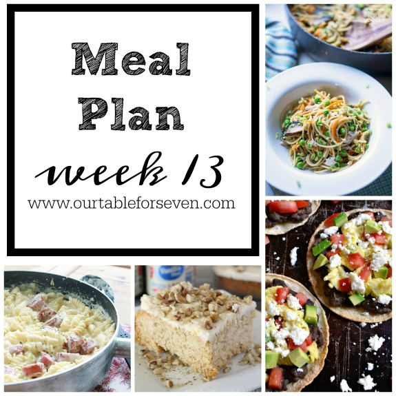 Meal Plan: Week 13