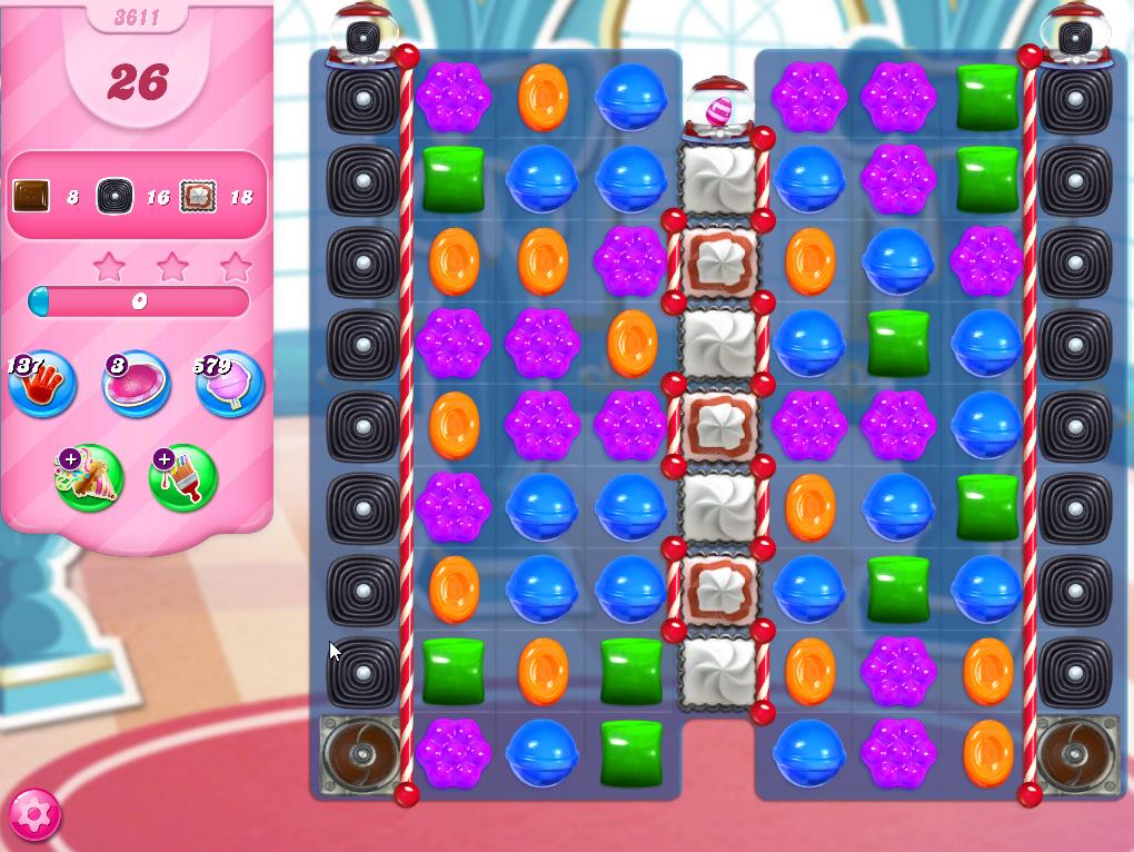 Candy Crush Saga level 3611