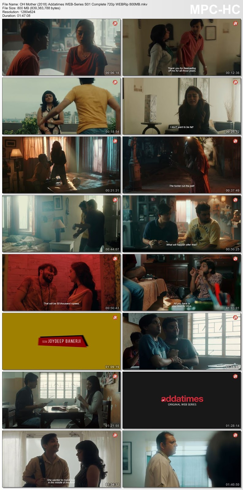 18+ OH Mother (2018) Addatimes S01 Complete WEB-Series 720p