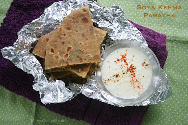 how to make Soya Chunk Paratha | Soya Granules Paratha