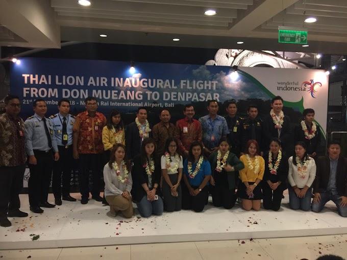 Inaugural Flight Thai Lion Air from Bangkok (DMK) to Bali (DPS)